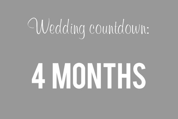 weddingcountdown4months